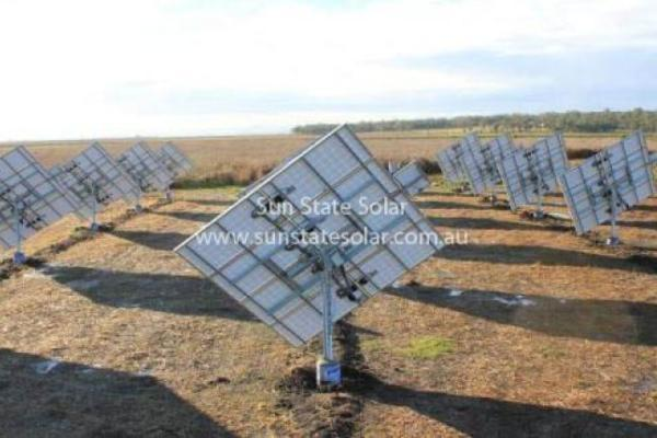 Solar Tracker Array - Behind