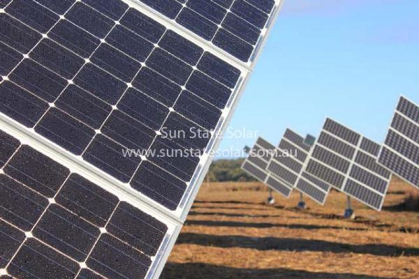 Solar Tracker Array -  Close Up